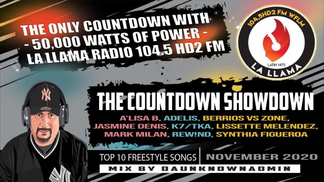 The Countdown Showdown November DaUnknownAdmin on La Llama Radio